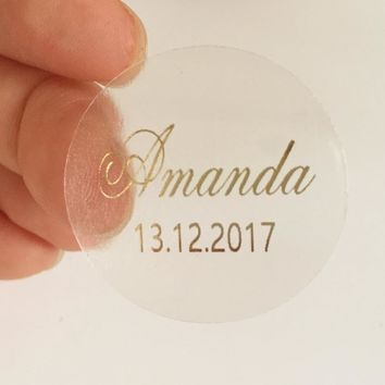 Custom BABY BRIDAL SHOWER Stickers wedding Invitation Envelope Seals baptism christening first communion Favor Gifts labels