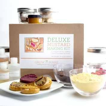 Deluxe DIY Mustard Making Kit - Learn how to make your own gourmet mustard!