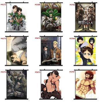 Cool Attack on Titan  Anime manga wall Poster Scroll E AT_90_11
