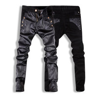 Denim and Leather Pants
