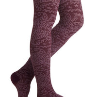 Maple Grove Tights in Wine