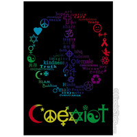 Coexist Black Light Poster on Sale for $9.99 at HippieShop.com