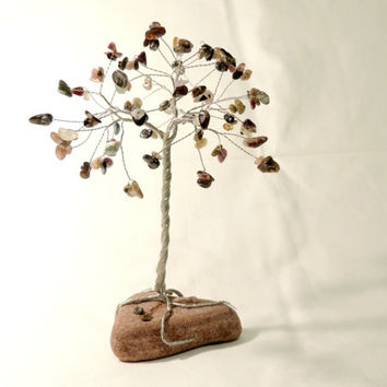 Tourmaline Wire tree,Wire tree of life,Gem tree,wire tree sculpture