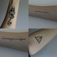 Harry Potter Temporary Tattoo Set of 4