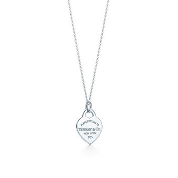 Classic Tiffany Heart Pendant Necklace