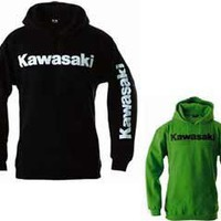 Kawasaki Logo Hooded Sweatshirt - Black - Size Small