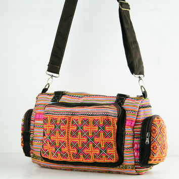 Gypsy Ethnic Tribal Duffle Bag Handbag Shoulder Diaper Ba