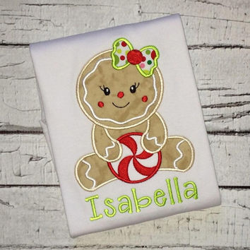 Christmas shirt. Gingerbread girl shirt. Holiday sale.
