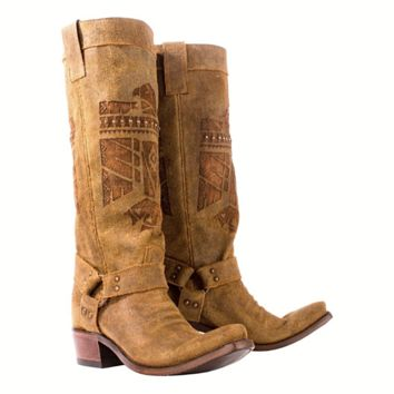 Junk Gypsy She Who is Brave Honey Boot by Lane Boots