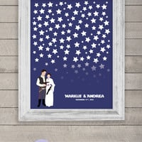 Wedding Guest Book Alternative Poster Star Wars Guestbook print
