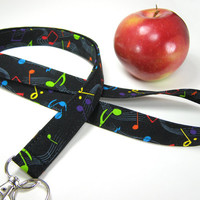 Fabric Lanyard for the Music Teacher or Musician