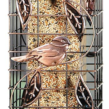 Audubon/woodlink - Squirrel-resistant Caged Tube Feeder