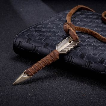 Vintage Leather Collier Arrow Punk Necklaces & Pendants Body Choker Chain Men & Women Necklace Jewelry Best Gift ping