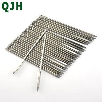30ps/lot 5.8cm DIY Leather Needle Triangular Needles Craft Hand Stitches Leather Fur Special Shape Needle Sewing Tools Accessory