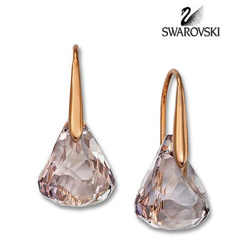 Swarovski Crystal LUNAR BLUSH Water Droplets Pierced Earrings Rose Gold 1054614