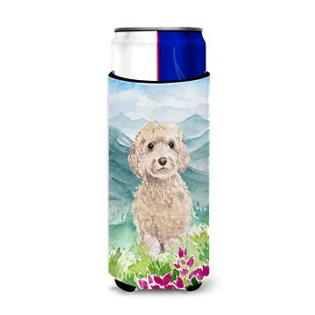 Mountian Flowers Goldendoodle Michelob Ultra Hugger for slim cans CK1984MUK