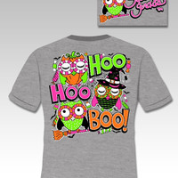 Sassy Frass Funny Hoo Hoo Boo Owl Witch Halloween Sweet Girlie Bright T Shirt