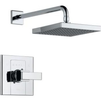 Delta, Arzo 1-Handle 1-Spray Shower Faucet Trim Kit in Chrome (Valve Not Included), T14286-SHQ at The Home Depot - Mobile