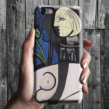 Nude, Leaves and Bust - Pablo Picasso iPhone Case 6, 6S, 6 Plus, 4S,5S. Mobile Phone. Art Painting. Gift Idea. Anniversary. Gift for him/her
