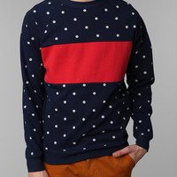 Urban Outfitters - Mighty Fine Polka Red Stripe Crew Sweatshirt