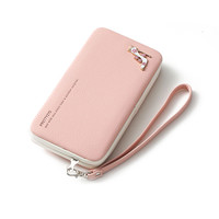 2017 Lady Leather Wallet Girls Large Capacity Hand Bag Candy Color Metal HighHeel Clutch Long Phone Case Card Holder bolso XA38H