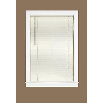Midnight Collection 1-Inch Room Darkening Alabaster Mini Blind (31 inch  x 64 inch )