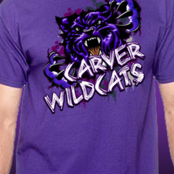 Carver Wildcats Splash T-Shirt