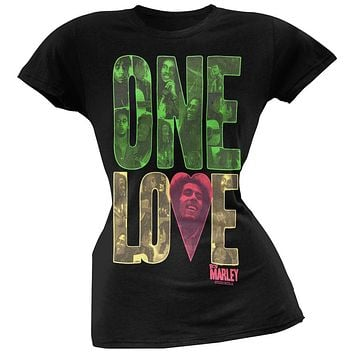 Bob Marley - One Love Block Black Women's T-Shirt