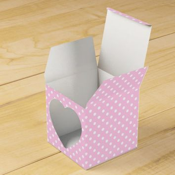 Beautiful Pink Polka Dots Pattern Favor Box