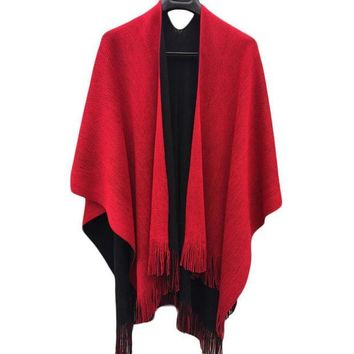 ESBU3C Hot Women Winter Knitted Cashmere Poncho Capes Shawl Cardigans Sweater Coat  Drop Shipping S22