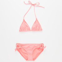 Full Tilt Solid Girls Triangle Bikini Set Popsicle  In Sizes