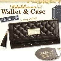 San-X Rilakkuma Black Studded Fancy Long Wallet