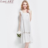 2016 spring elegant long nightgowns vintage white nightgown ladies long romantic nightgowns vintage cotton nightgown AA145