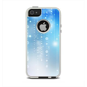 The Translucent Blue & White Jewels Apple iPhone 5-5s Otterbox Commuter Case Skin Set
