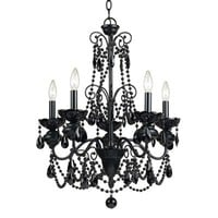 AF Lighting 7506-5H 5 Light Mischief Chandelier, Black  - Lighting Universe