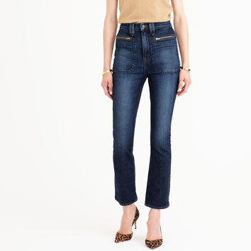 Point Sur Cybil demi-boot crop jean in Allaqua wash