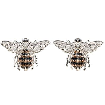 Handmade Sterling Honey Bee Stud Earrings