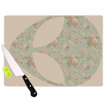 "Alias ""Floral Alien"" Pink Teal Cutting Board"