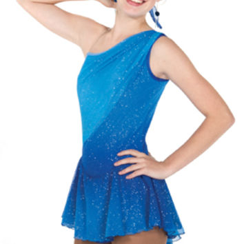 659 Cosmic Dress - Blue Figure Skating Store