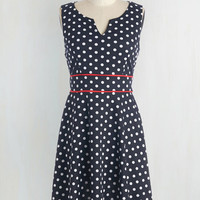 Americana Mid-length Sleeveless A-line In Spot Pursuit Dress by ModCloth