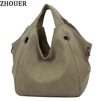 Vintage Woman Handbags 2017 New Canvas Crossbody Bags Designed For Ladies Messenger Bags Large Capacity Shoulder Bags HB260
