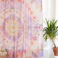 Pressed Floral Shower Curtain | Urban Outfitters