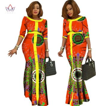 2017  afrikaanse kleding voor vrouwen  Vintage Maxi Dress Dashiki african dresses for women in african clothing other  WY1146