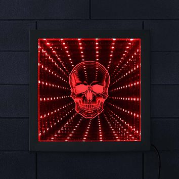 Skull Head LED Infinity Color Changing Mirror