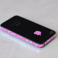 iPhone 4S Antenna Wrap Sparkling Rose by kellokult on Etsy