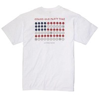 Grand Old Party Time Tee in White by Southern Proper