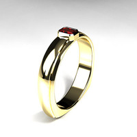emerald cut Ruby wedding band, wide ring, white gold, yellow gold, men wedding, men ruby wedding, european shank, ruby engagement, red