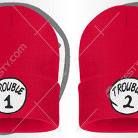 Trouble 1 2 Sexy Drunk Bro Thing Bitch Series Beanie Beanies Winter Hats Couple Beanie Couple Beanies Matching Beanie Beanies Relationship
