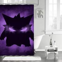 "New Pokemon Gengar Sinister Custom Shower Curtain 66"" x 72"""
