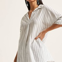 Striped Button-Back Tunic